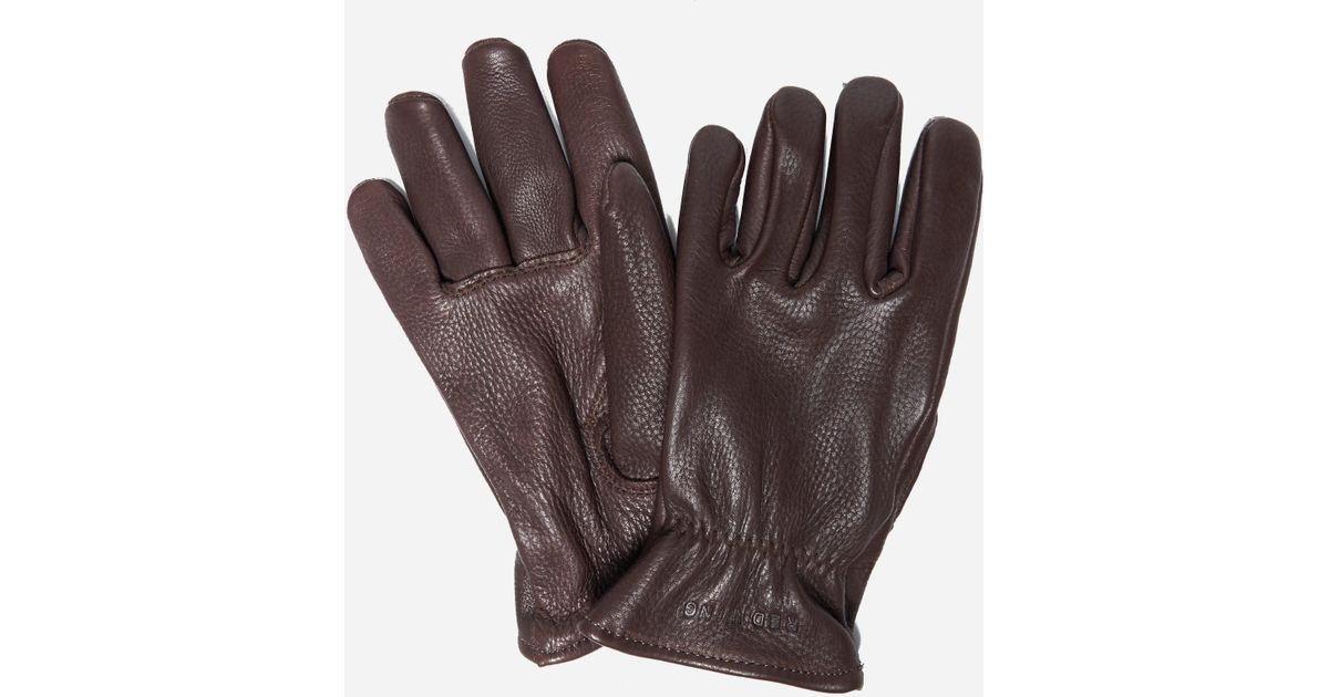 05b39f2515042 Red Wing Buckskin Leather Gloves in Brown for Men - Lyst