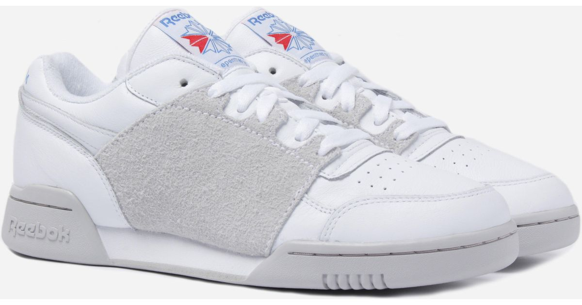 a39f4c49d384 Lyst - Reebok Reebok Workout Plus Nepenthes White  Steel  Blue  Core in  White - Save 78%