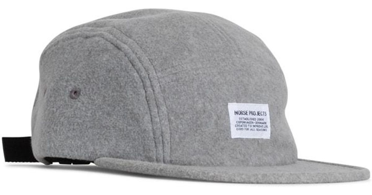 Lyst - Norse Projects Norse 5 Panel Polartec Light Grey Melange in Gray for  Men 55756e5242b