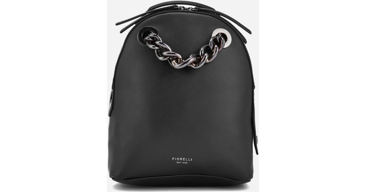 Lyst - Fiorelli Anouk Small Backpack With Chain in Black