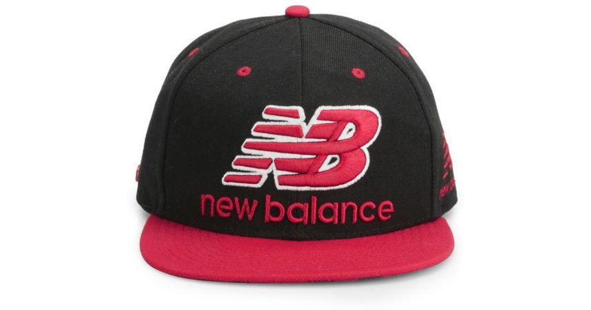 e2164aac37e Lyst - New Balance Unisex Courtside 6 Panel Flat Peak Baseball Cap for Men
