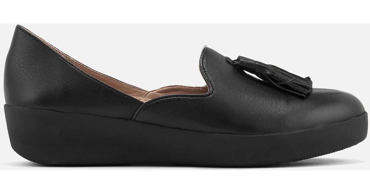 ce5de8b9821 Lyst - Fitflop Tassel Superskate D orsay Loafers in Black