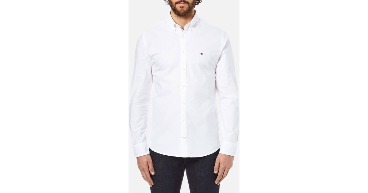 b805e37df55b07 Lyst - Tommy Hilfiger Engineered Oxford Long Sleeve Shirt in White for Men  - Save 28.395061728395063%