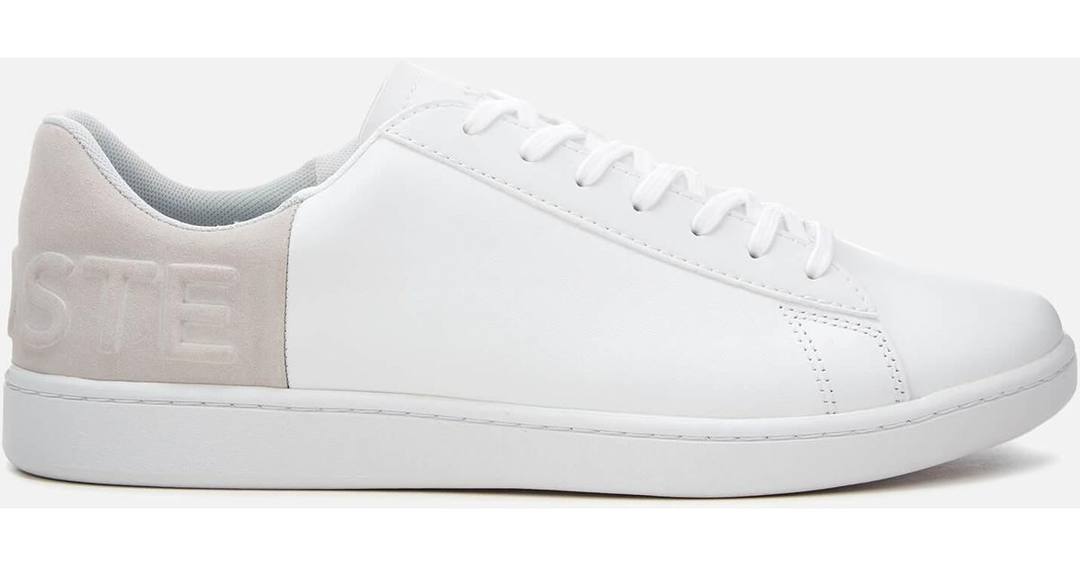 a3e19f91d Lyst - Lacoste Mens White   Light Grey Carnaby Evo 318 6 Trainers Men s  Shoes (trainers) In Multicolour in White for Men