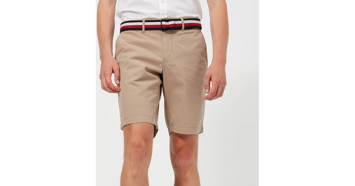 1afe9d4320 Tommy Hilfiger Brooklyn Shorts With Belt in Natural for Men - Lyst