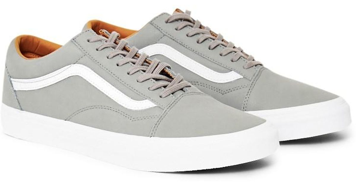 48f709bc41 Lyst - Vans Old Skool Premium Leather Trainers Grey in Gray for Men