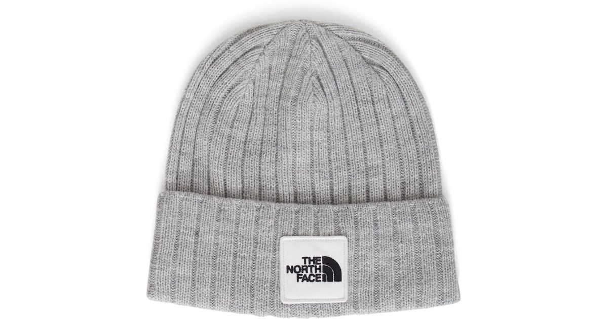 3731aaf844f The North Face Logo Boxed Cuffed Beanie Grey in Gray for Men - Lyst