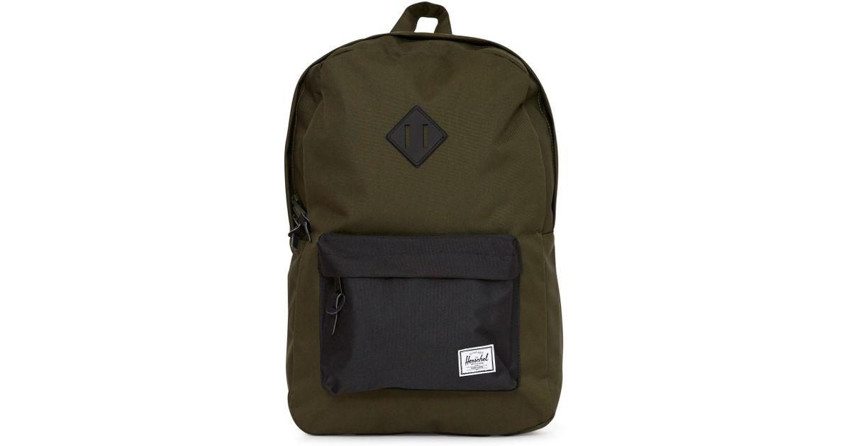 1ae4b172b2 Lyst - Herschel Supply Co. Heritage Duffle Bag Green   Navy in Blue for Men