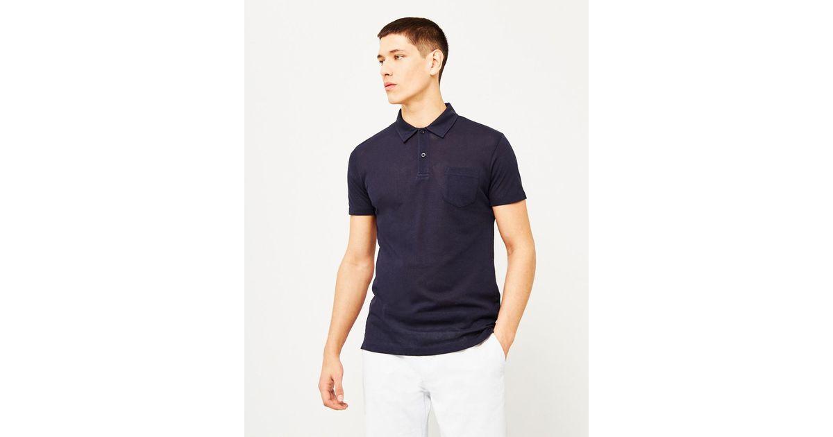 47f43cda168 Sunspel Short Sleeve Riviera Polo Shirt Navy in Blue for Men - Lyst