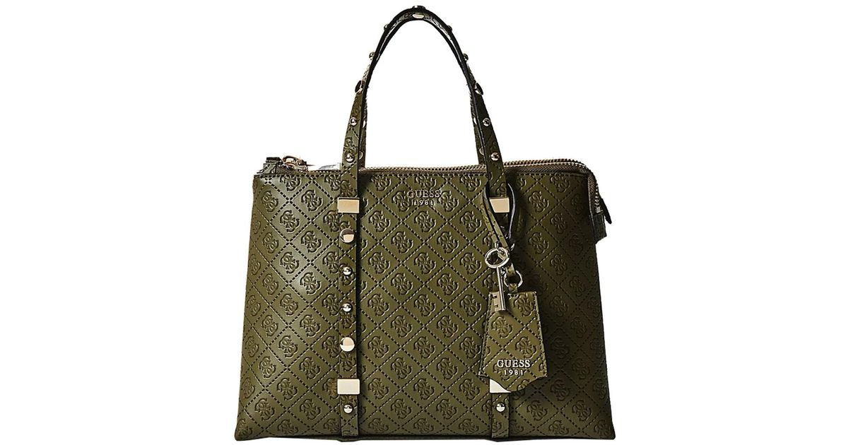 Guess Coast To Coast Status Satchel in Green
