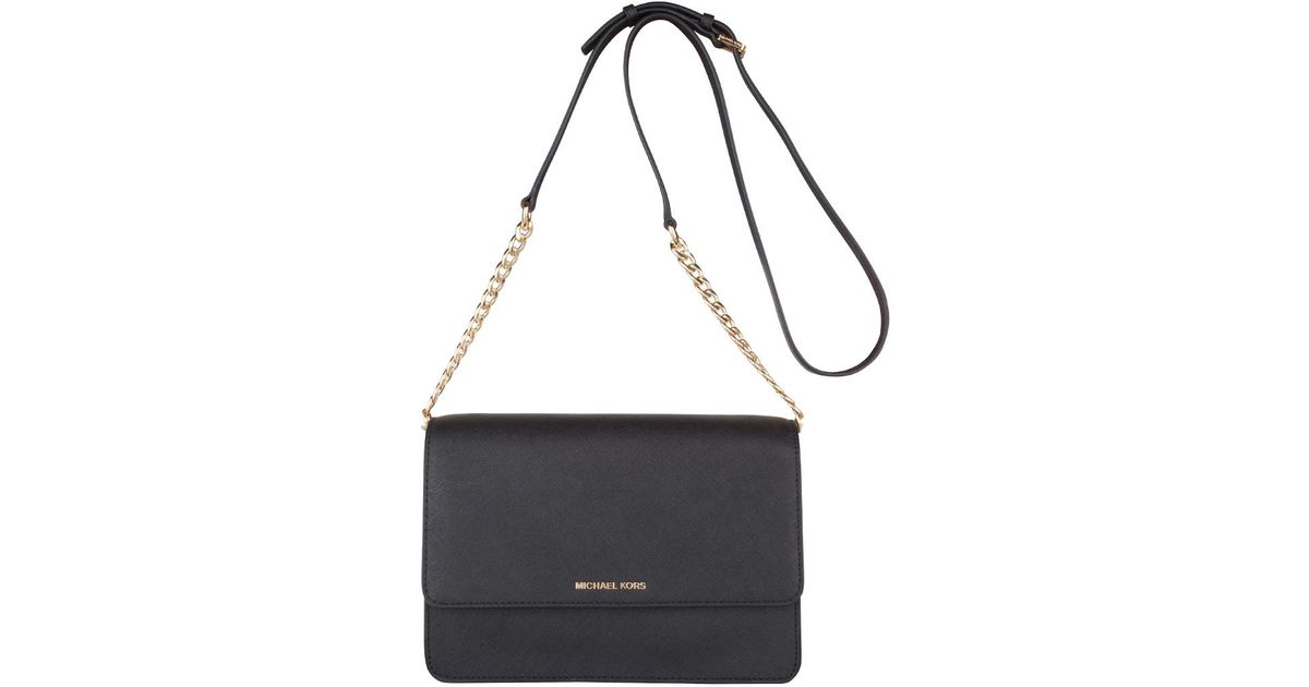 366ddf3b8f41 Michael Kors Daniela Large Crossbody in Black - Lyst