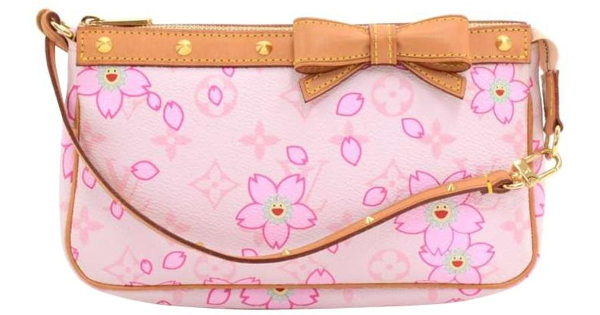 33faf1ad67cf Lyst - Louis Vuitton Monogram Canvas Cherry Blossom Pochette Accessoires in  Pink