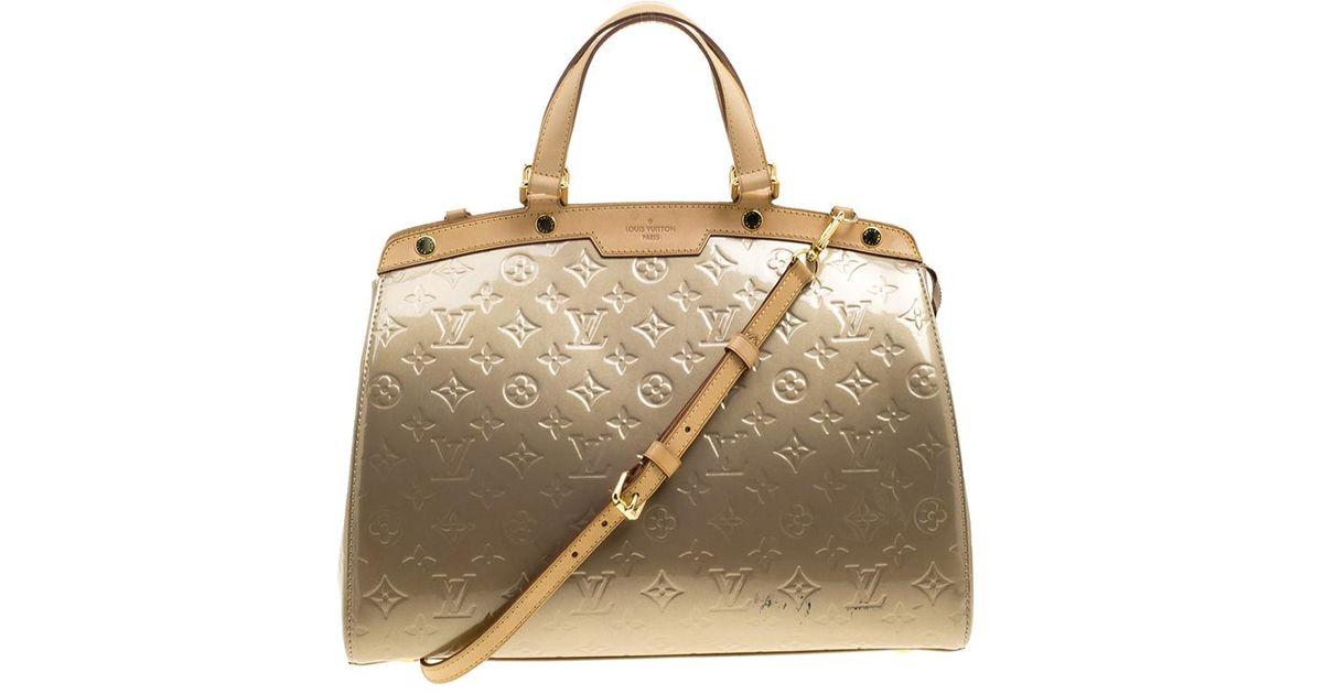 f60fb2d95aea Lyst - Louis Vuitton Poudre Monogram Vernis Brea Gm Bag in Natural