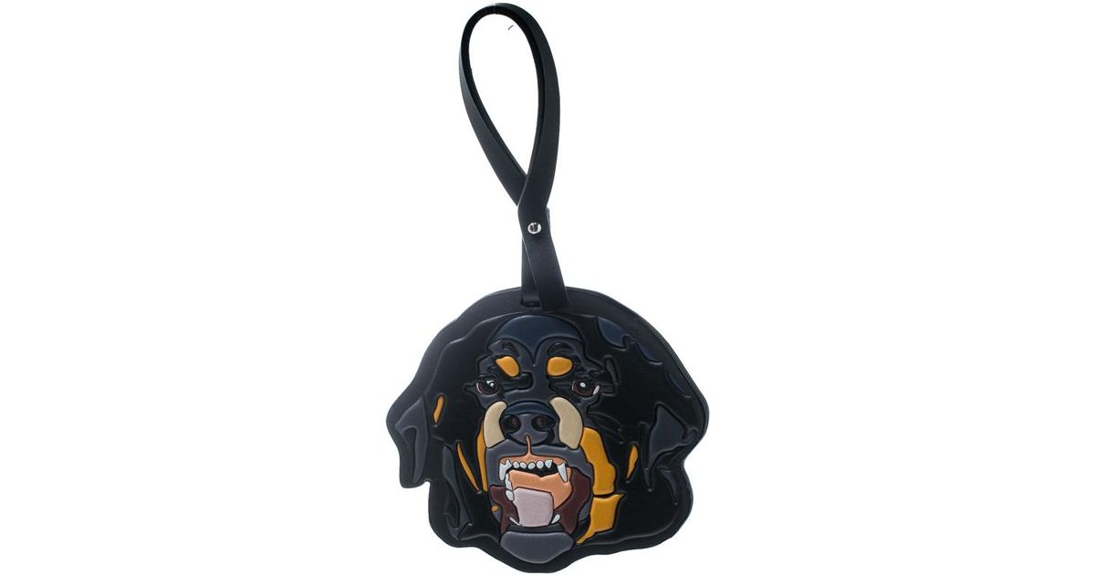 3cc9944be Givenchy Multicolor Leather Rottweiler Bag Charm in Gray - Lyst