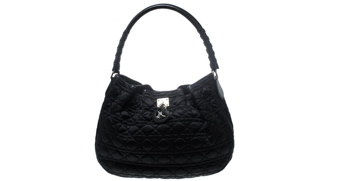 Lyst - Dior Cannage Nylon Lovely Hobo in Black 31ae7ab827982