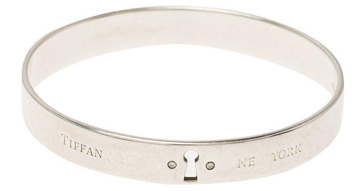 9ff9f93c5 Tiffany & Co. Tiffany Locks Diamond & Bangle Bracelet 19cm in ...