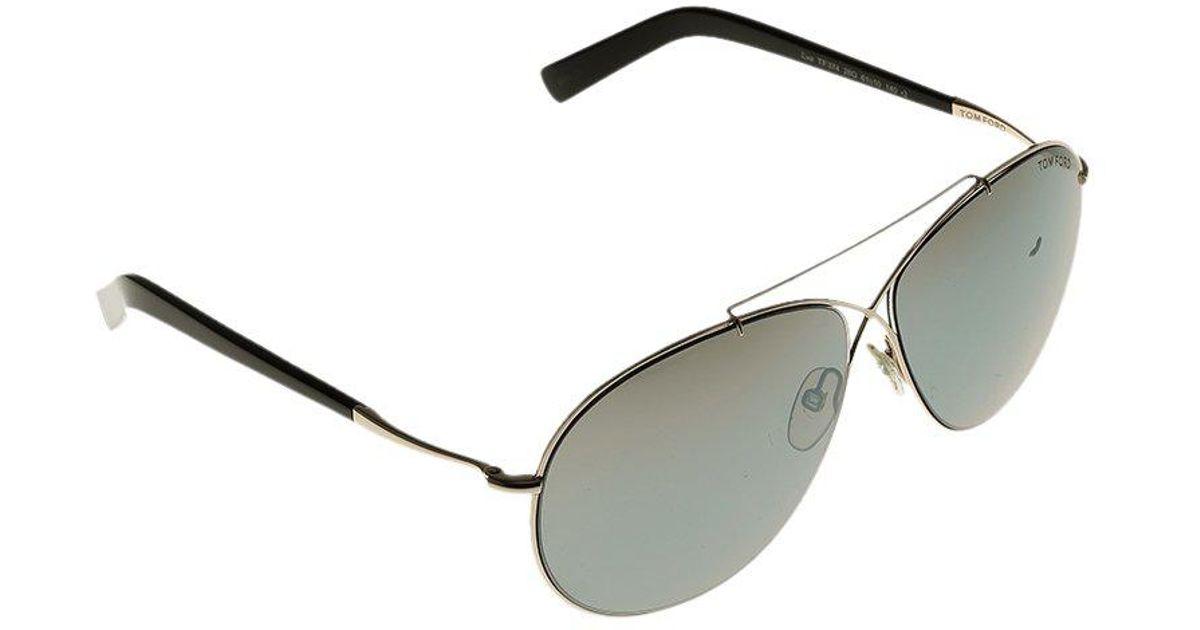 c615612ec01 Tom Ford Tf374 Eva Aviator Sunglasses in Black - Lyst