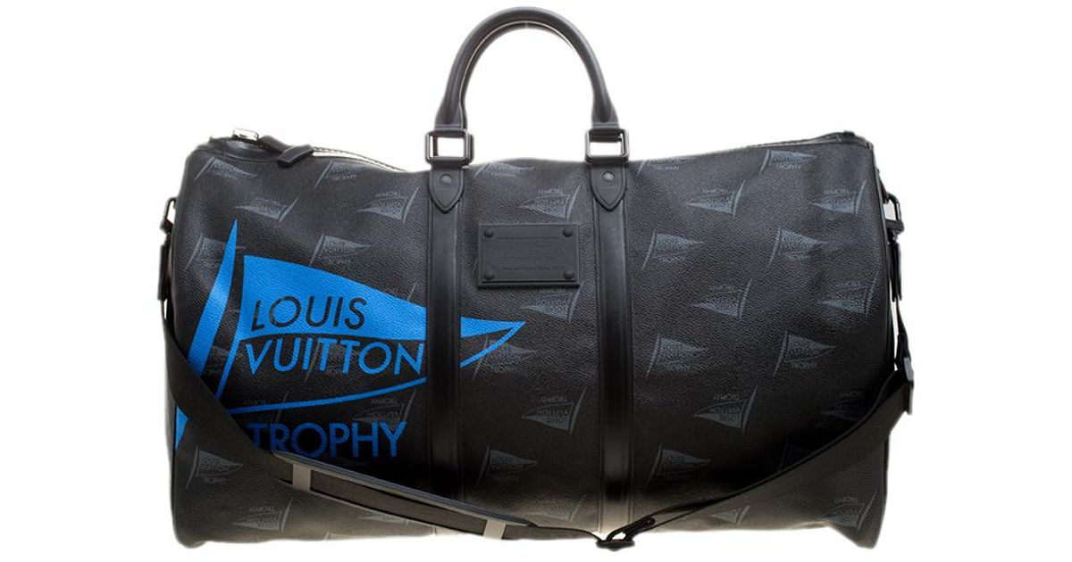 953ec03ebb6a Lyst - Louis Vuitton Coated Canvas Limited Edition 49 200 Dubai Trophy Keepall  Bandouliere 55 Bag in Black for Men