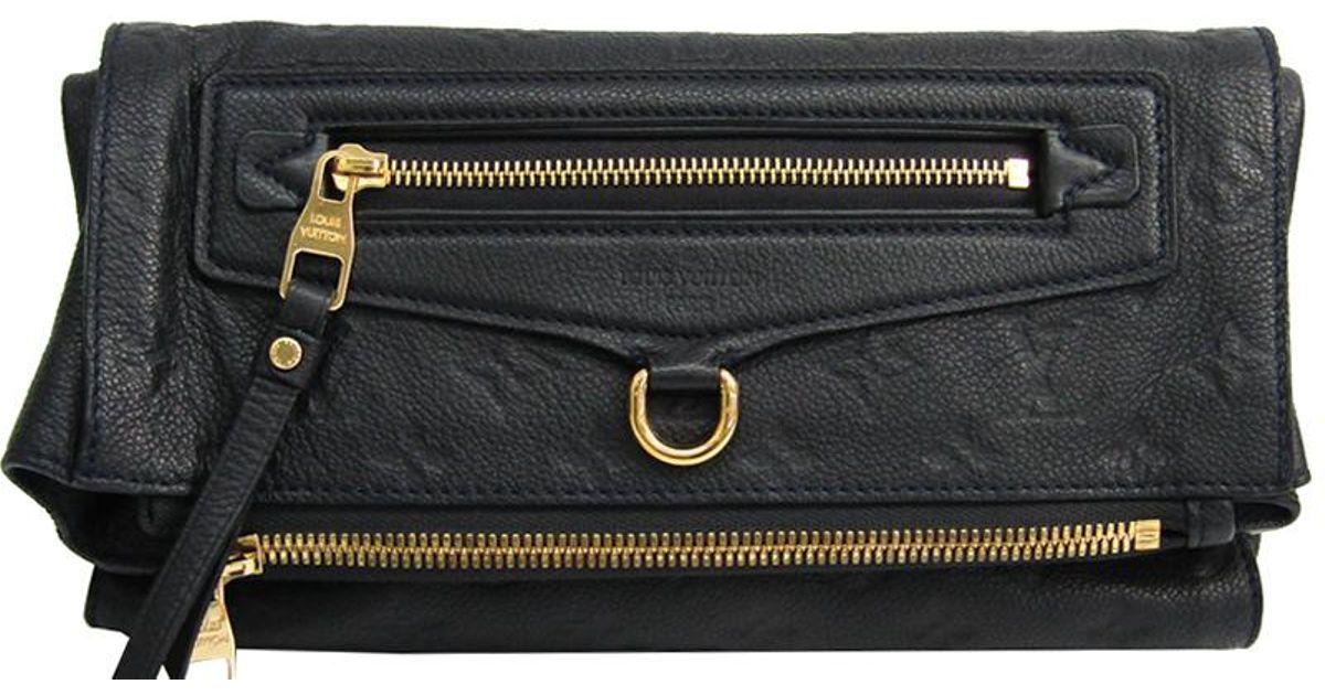 0387ddd4d349 Louis Vuitton Bleu Infini Monogram Empreinte Leather Petillante Clutch Bag  in Blue - Lyst