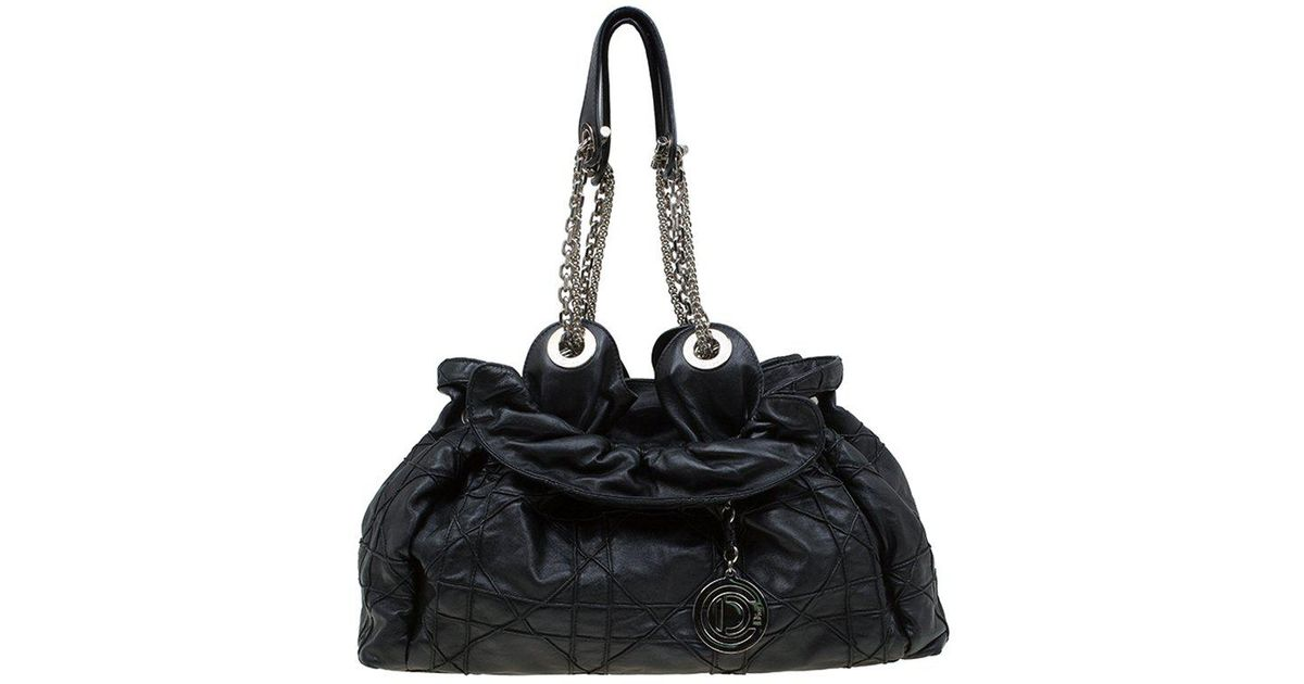 Dior Quilted Cannage Leather Le Trente Hobo in Black - Lyst d2126b740bcd7