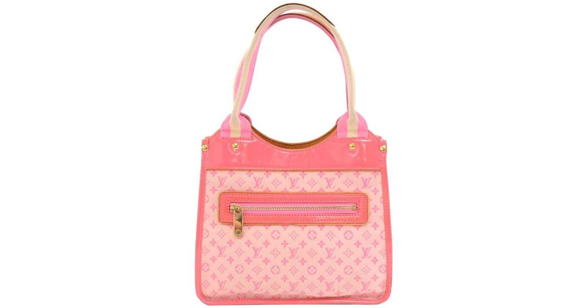 8e1e6e80b50e Louis Vuitton Rose Monogram Mini Lin Sac Kathleen Bag in Pink - Lyst