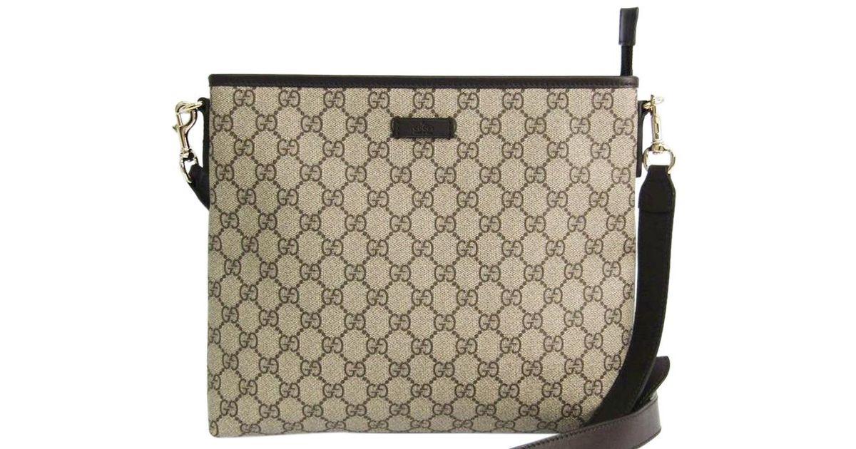 73c03ebd886 Gucci Beige ebony Gg Supreme Coated Canvas Messenger Bag in Brown for Men -  Lyst