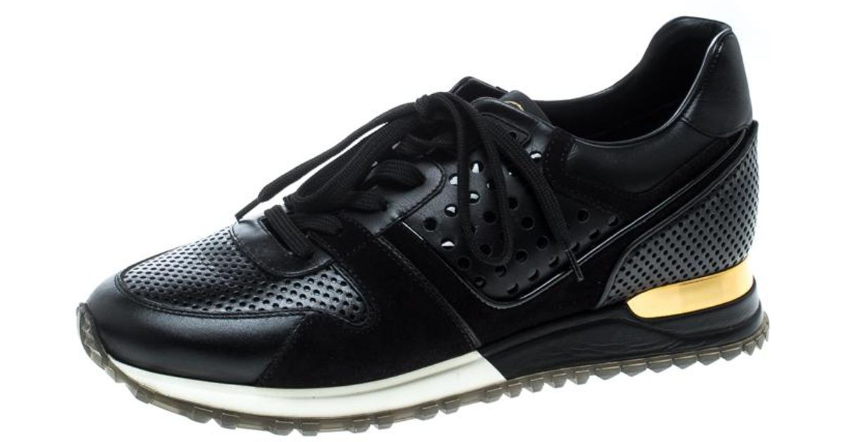 a8d367a6e52f Lyst - Louis Vuitton Leather And Suede Runaway Sneakers in Black