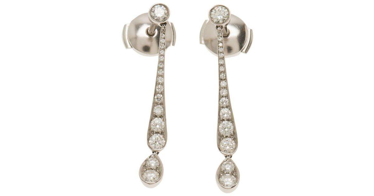 f83a704f7 Tiffany & Co. Jazz Diamond Platinum Earrings in Metallic - Lyst