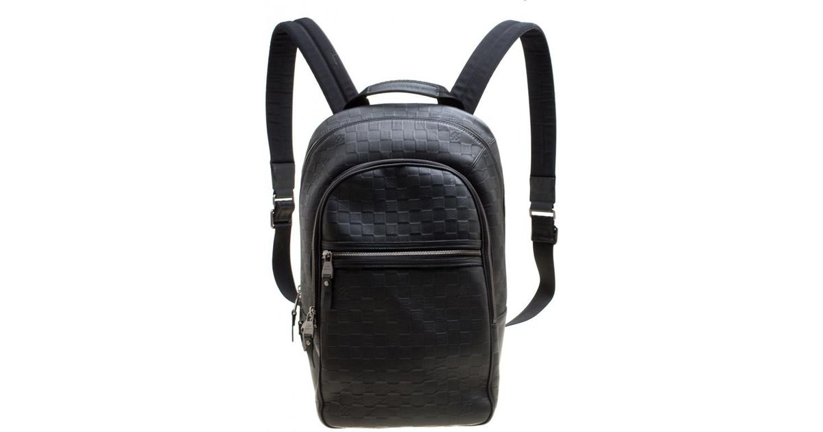 f20a17c56521 Lyst Louis Vuitton Damier Infini Leather Michael Backpack In Black For Men
