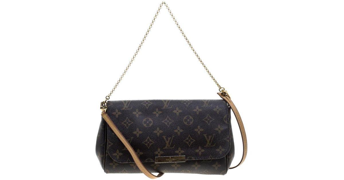 3a3bc1e4b5 Louis Vuitton Monogram Canvas Favorite Mm Crossbody Bag in Brown - Lyst