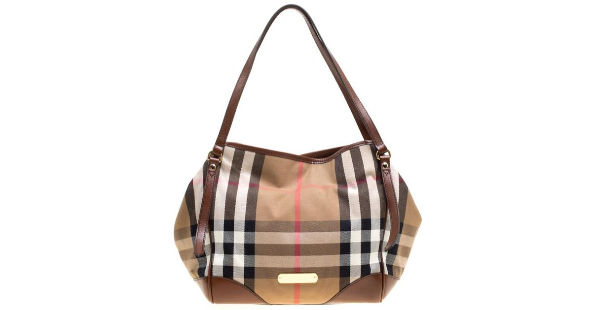 Burberry House Check Fabric Medium Canterbury Tote in Brown - Lyst 03bf317648