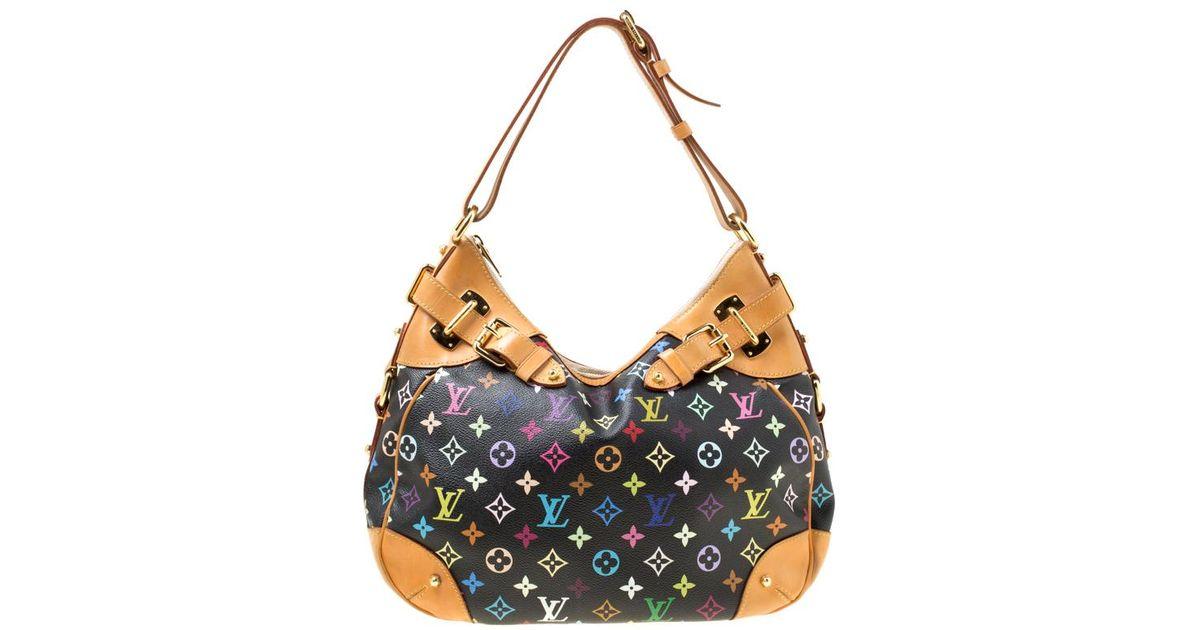 4ab84f5c6251 Louis Vuitton Black Multicolor Monogram Canvas Greta Bag in Black - Lyst
