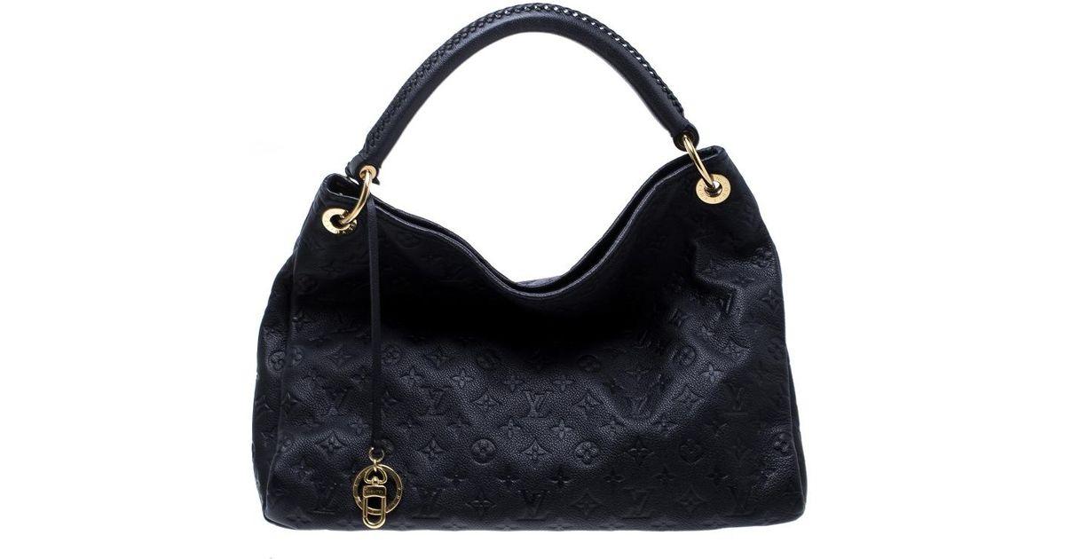 Lyst - Louis Vuitton Bleu Infini Monogram Empreinte Leather Artsy Mm Bag in  Blue 0ecf027379094