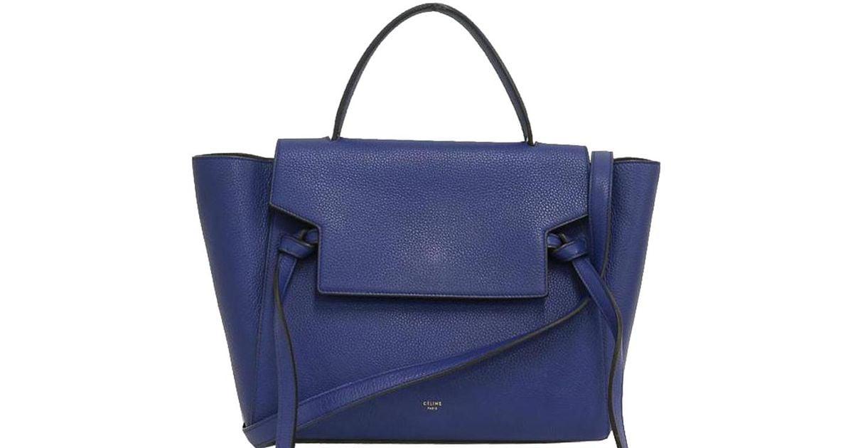 427369cb766b Céline Grained Calfskin Leather Mini Belt Bag in Blue - Lyst