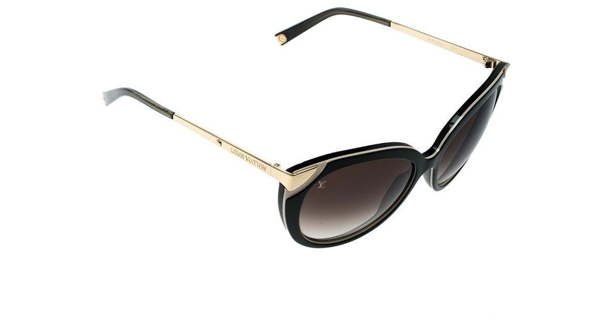 ac30e9d57fe9 Lyst - Louis Vuitton Green  Gradient Z0779w Cat Eye Sunglasses in Brown