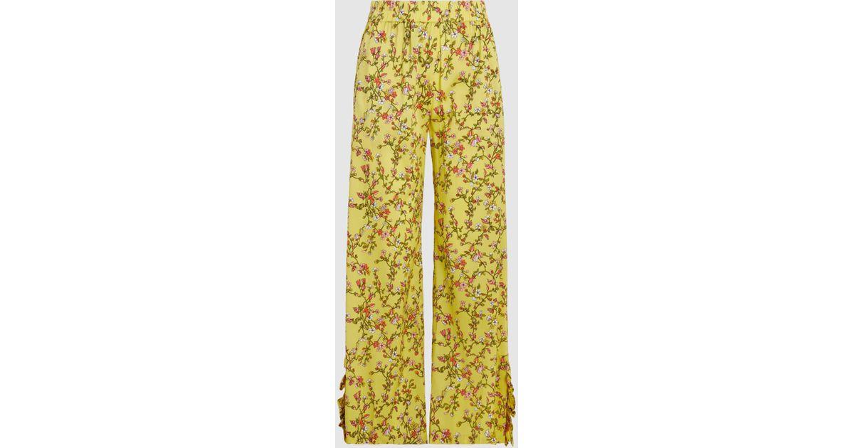 Nissa Printed Stretch-Silk Trousers Baum Und Pferdgarten DBIRSsCD