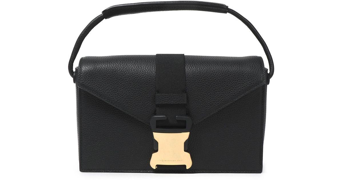 ca25010734 Christopher Kane Textured-leather Shoulder Bag in Black - Lyst