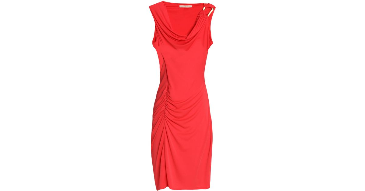 Factory Outlet Sale Online Buy Cheap Perfect Halston Heritage Woman Ruched Draped Stretch-jersey Mini Dress Tomato Red Size XL Halston Heritage Latest Collections Cheap Price MEmZt
