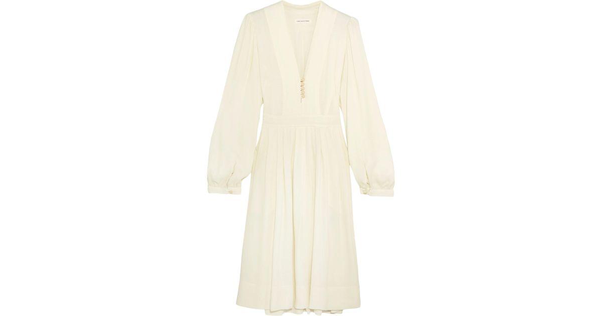 7b6ee23889 Étoile Isabel Marant Neil Crepe Dress in Natural - Lyst