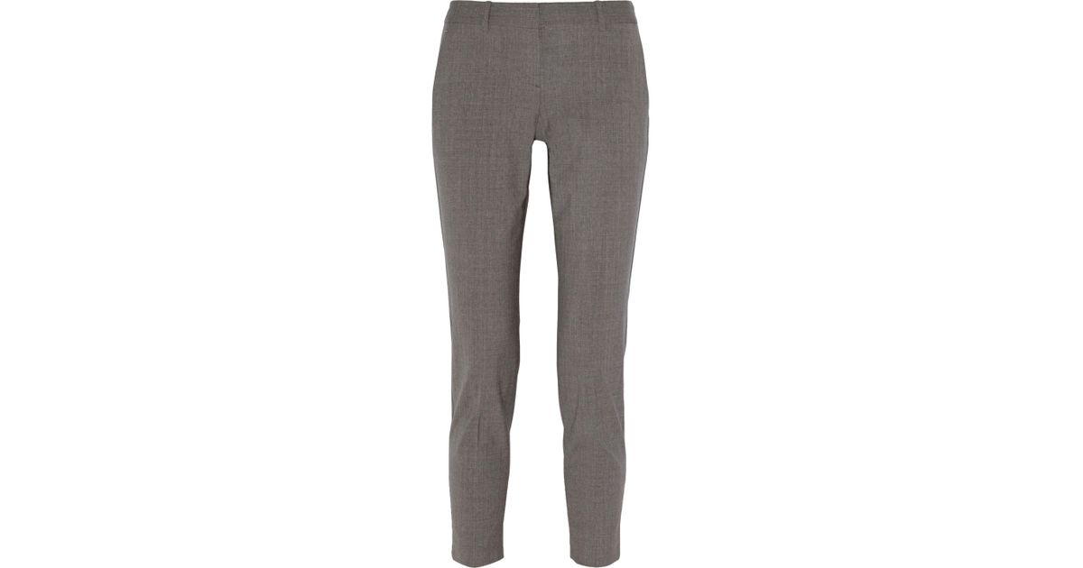 8465016026 Theory Testra Stretch-wool Straight-leg Pants in Gray - Lyst