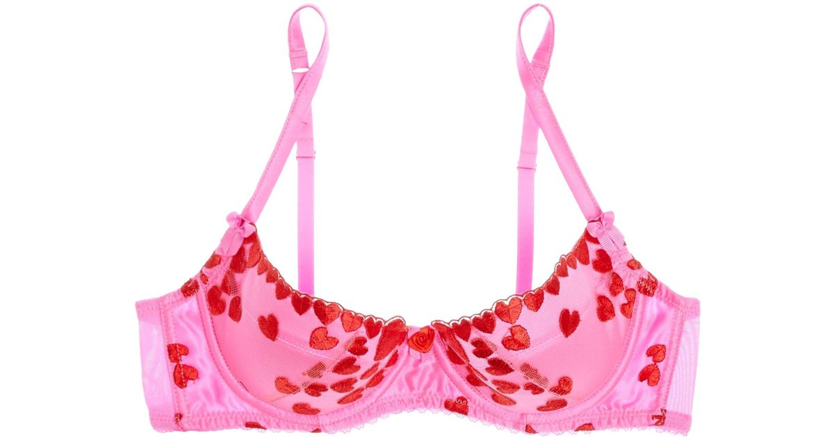 f37b6d22e7 Lyst - Mimi Holliday by Damaris Beau Daiquiri Embroidered Tulle Underwired  Push-up Bra in Pink