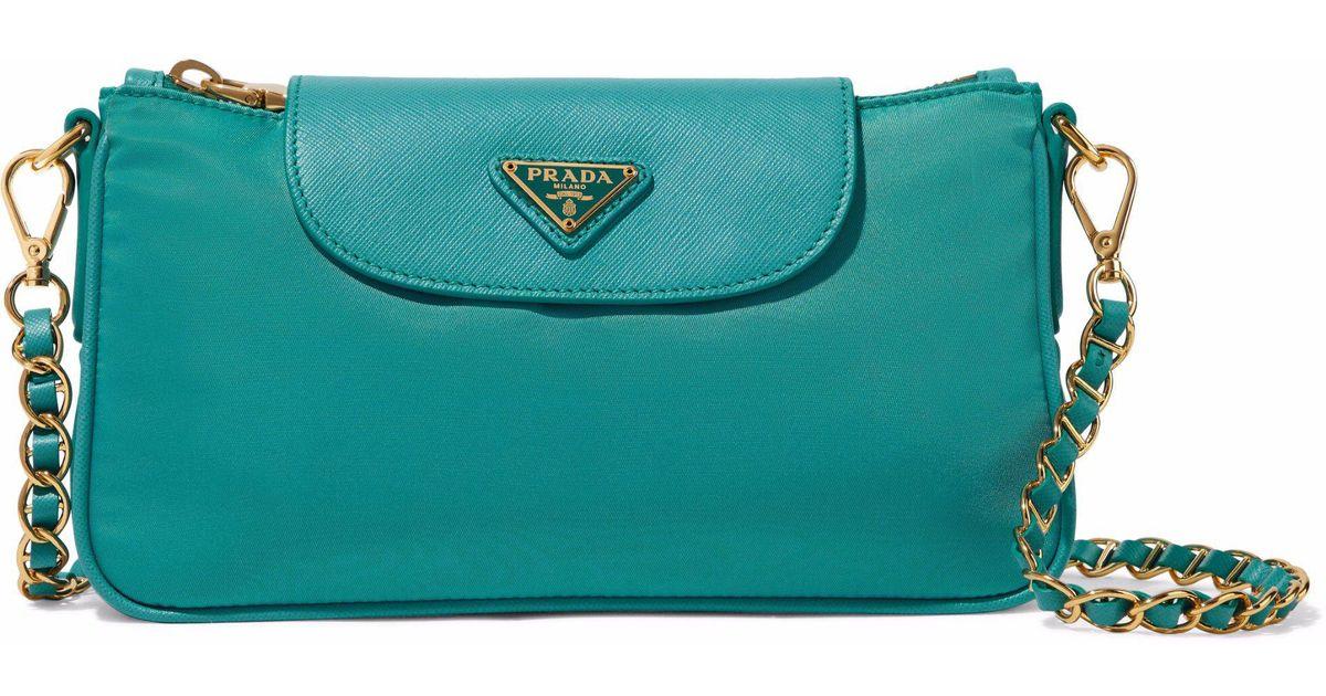 Lyst - Prada Nylon Shoulder Bag in Blue f001cd932b8d6