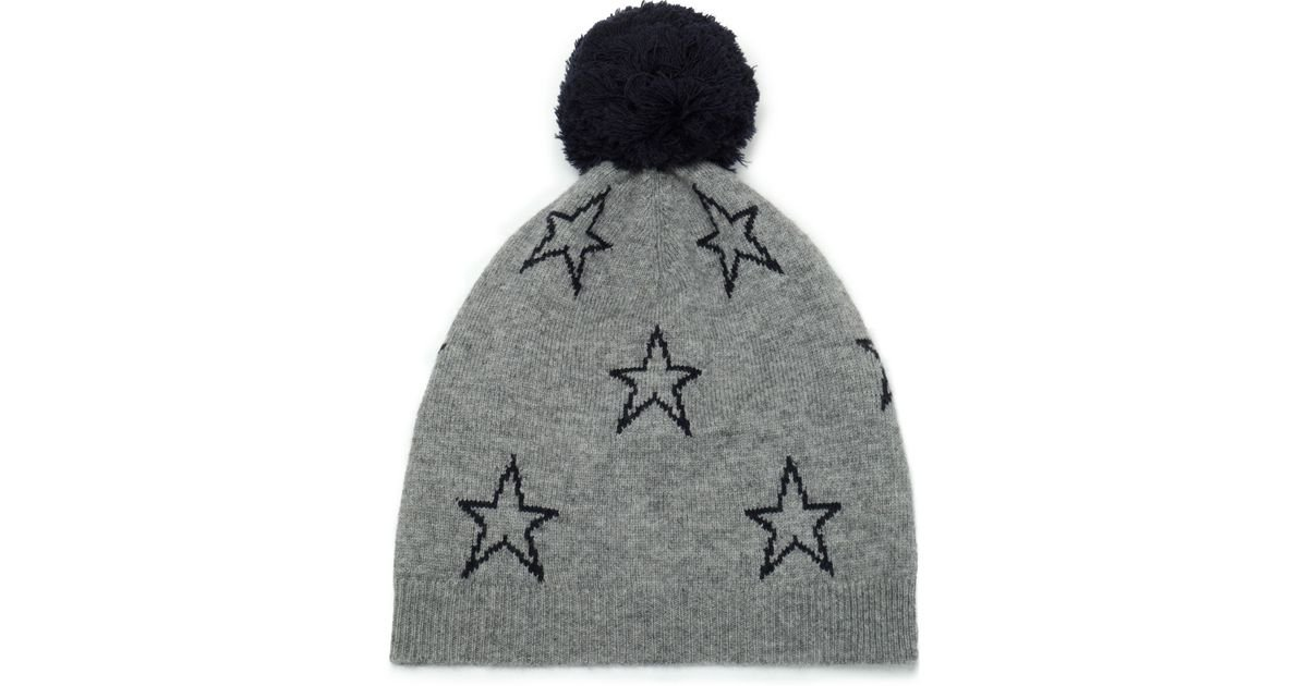 Chinti   Parker Pompom-embellished Intarsia Wool And Cashmere-blend Beanie  in Gray - Lyst bba872200bee