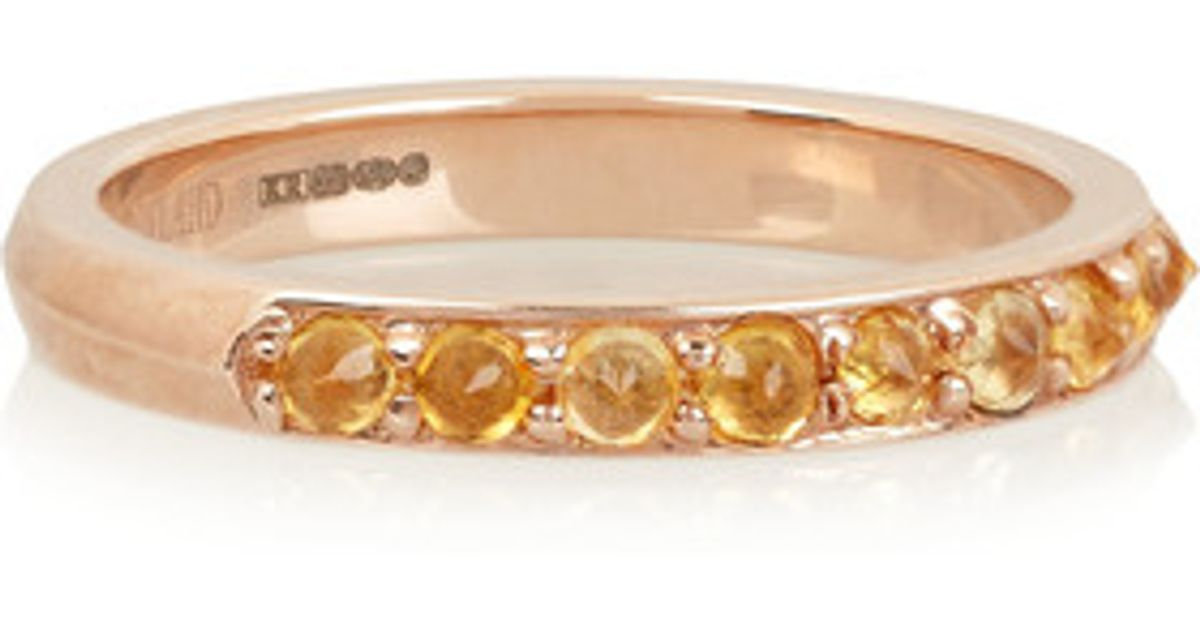 3c5ef02d72154 Katie Rowland - Multicolor - Salome Rose Gold-tone Citrine Ring - Lyst