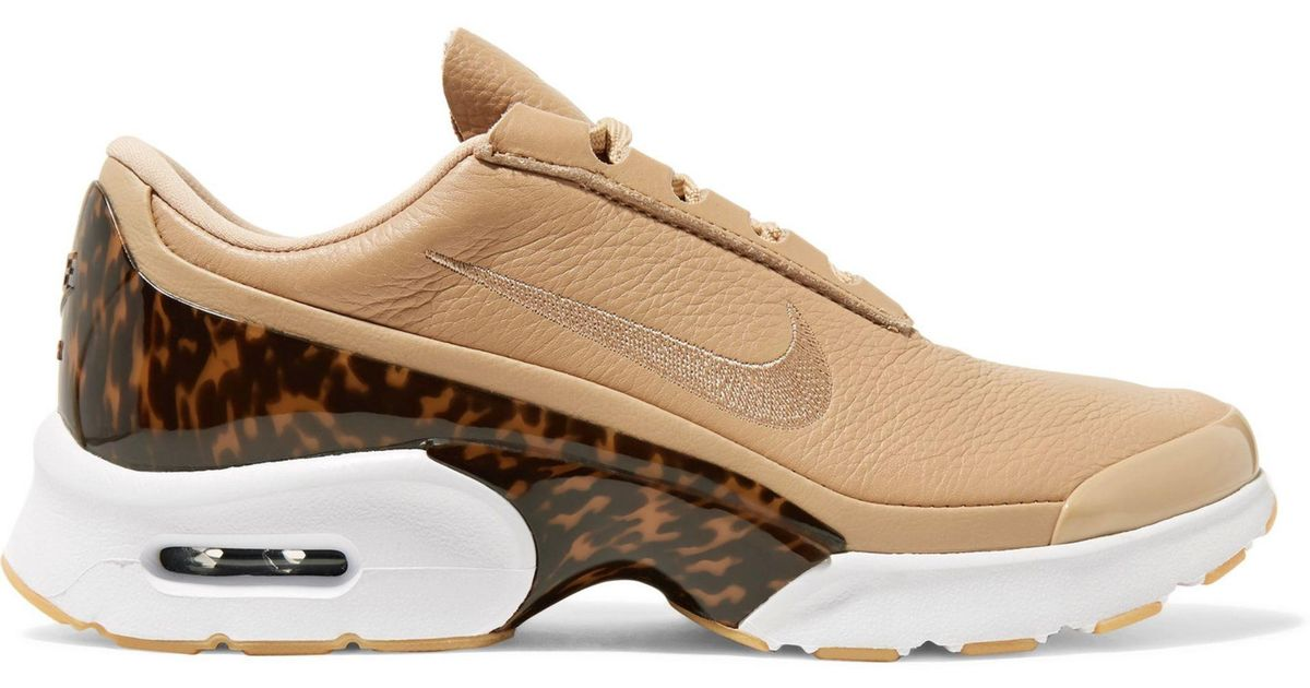 Nike Natural Air Max Jewell Lx Leather And Tortoiseshell Plastic Sneakers