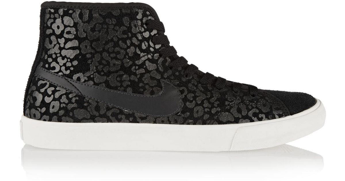 9e87d34a2f20 Lyst - Nike Primo Court Leopard-print Suede High-top Sneakers in Black