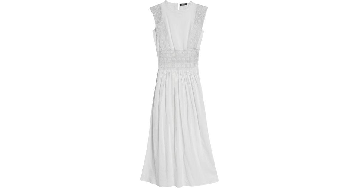c0eb292213351 Lyst - Antik Batik Lace-paneled Cotton-chiffon Cover Up in White