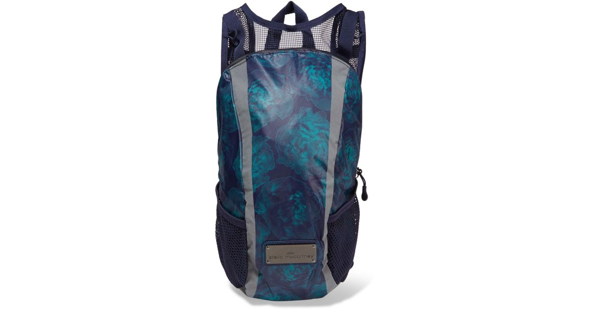 c079be5e18 Lyst - adidas By Stella McCartney Run Mesh-paneled Printed Shell Backpack  in Blue