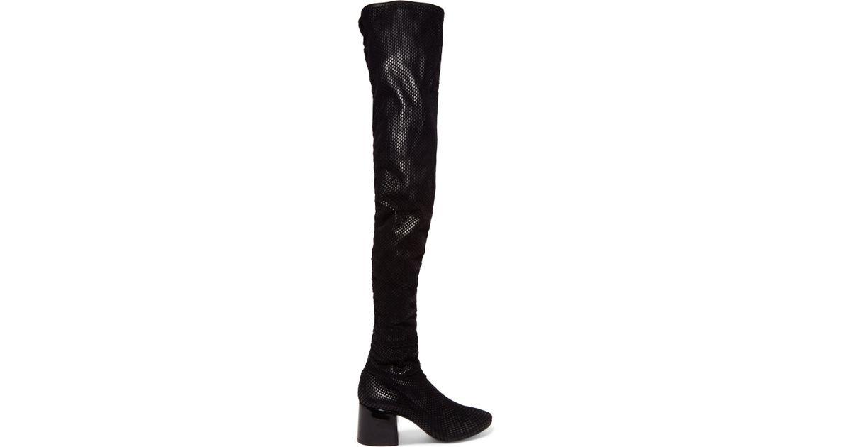 Black Velvet Over-The-Knee Boots Maison Martin Margiela Shopping Online High Quality Cheap Sale Recommend Outlet Cheap 2018 Sale Online vKG4vbAglI