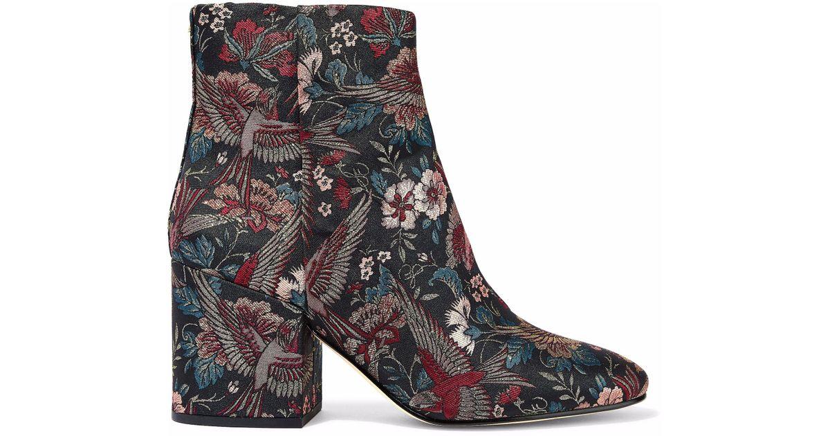 60b68eed9ca3 Lyst - Sam Edelman Woman Taye Metallic Jacquard Ankle Boots Multicolor